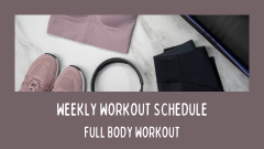WEEKLY WORKOUT SCHEDULE