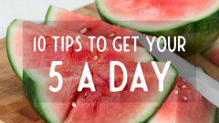 10 tips for your 5 a day