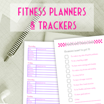 Health and fitness plannerset