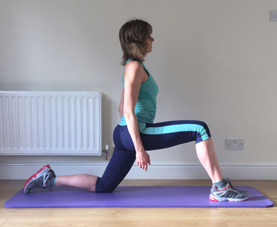 Flexibility training hip flexor