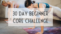 30 day core challenge for beginners