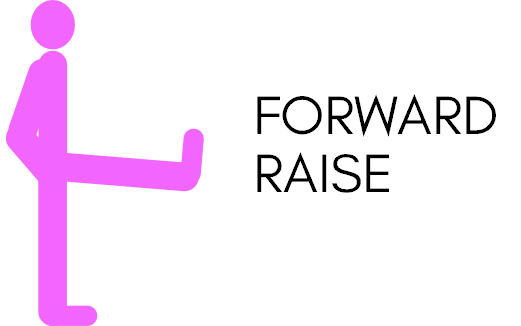 Leg workout forward raise