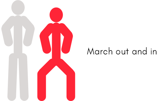 March out and in