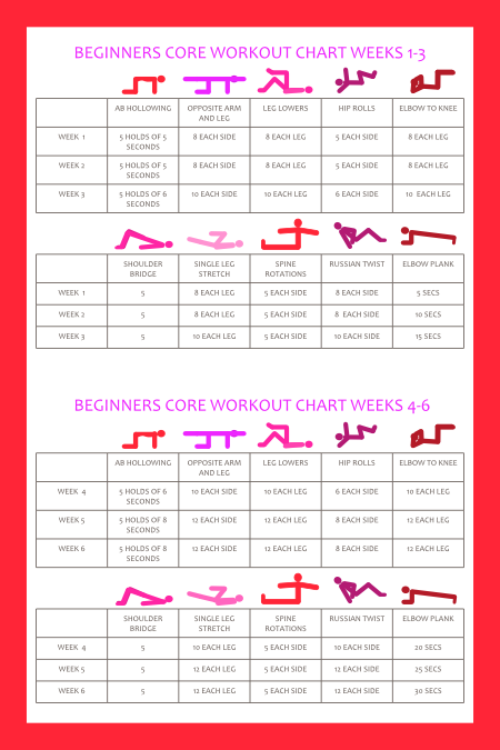 Printable core workout schedule