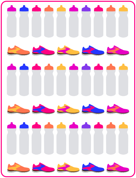 Bottles and trainers free printable fitness stickers