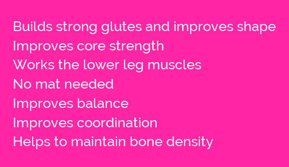 Advantages of standing glute