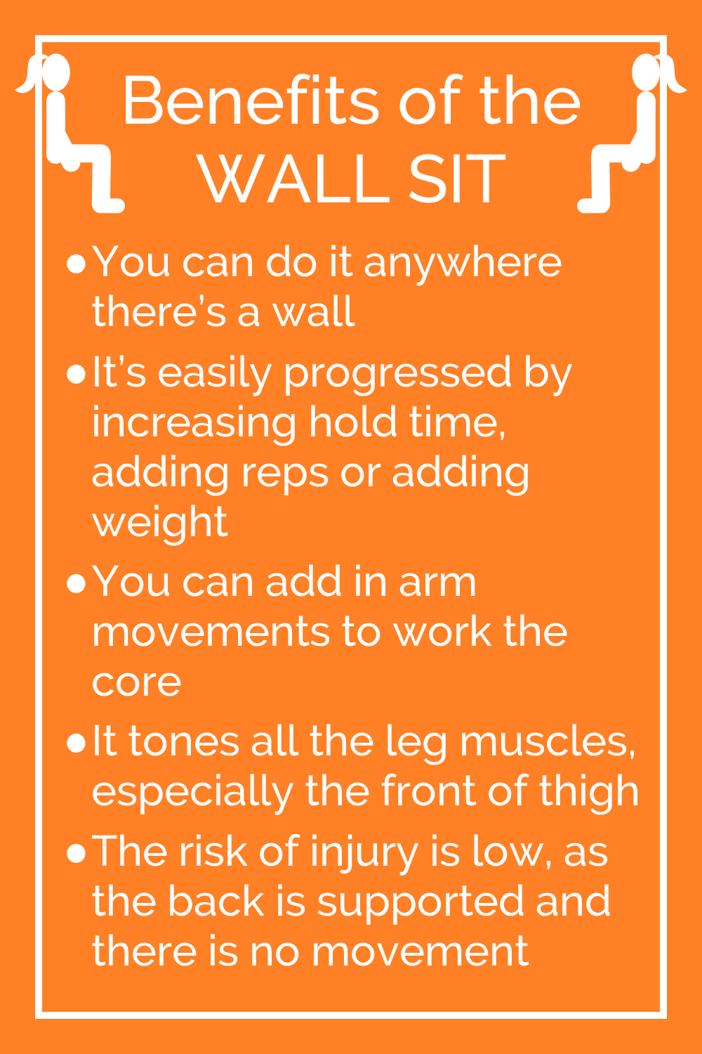 Benefits of the wall sit exercise