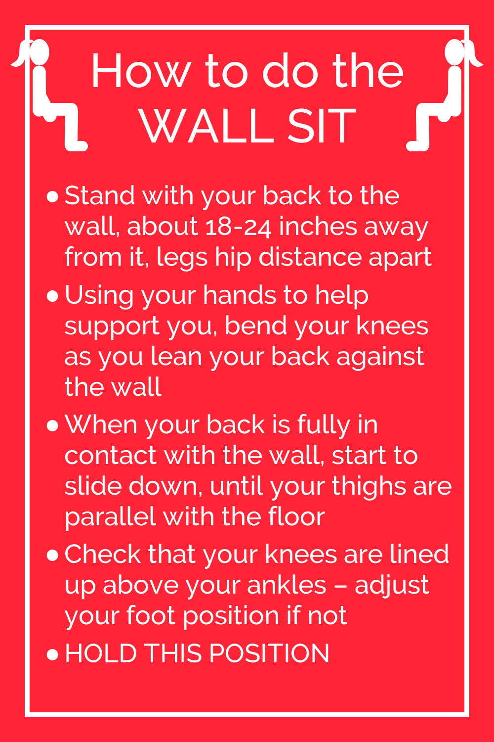 How to do the wall sit