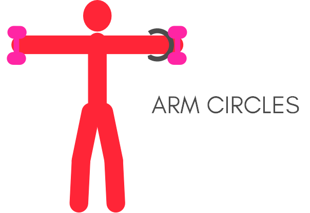 Quick morning workout arm circles