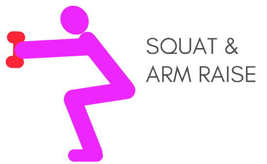 Quick morning workout squat