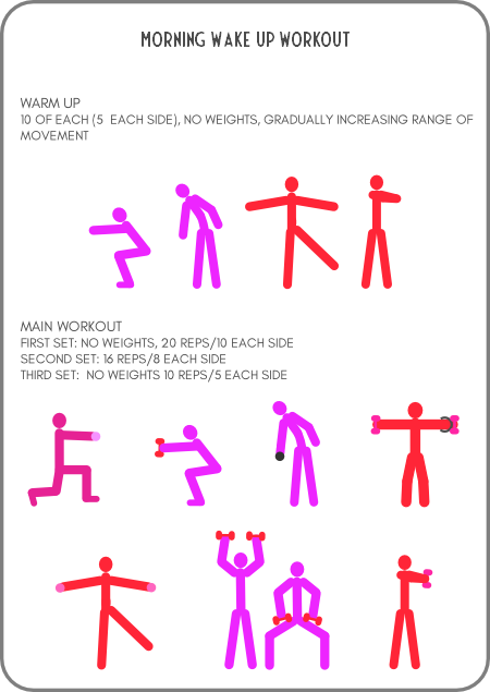Quick morning workout printable