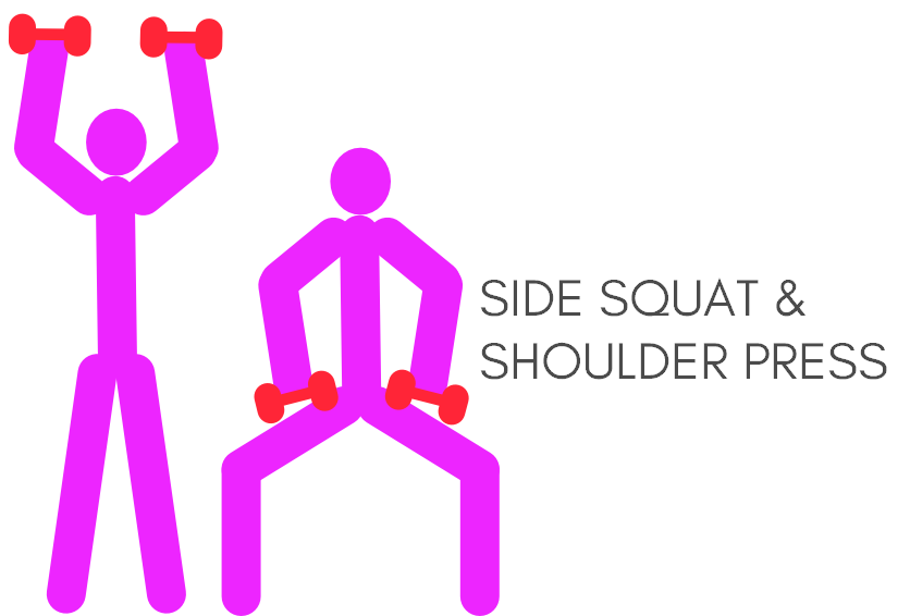 Side squat & shoulder press