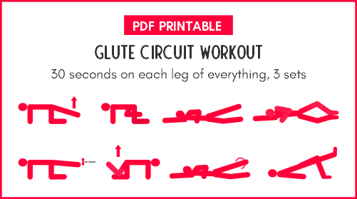 Glutes circuit workout