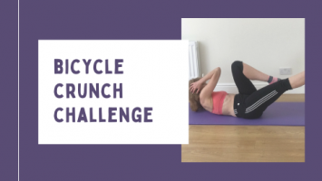 bicycle crunch challenge